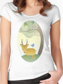Bubble and his Friend Women's Fitted Scoop T-Shirt