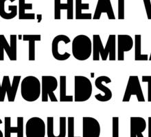 Ice Age, Heat Wave Sticker