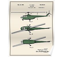 Helicopter Patent - Colour Poster