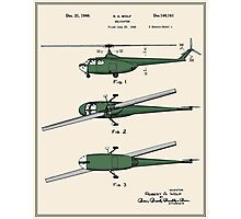 Helicopter Patent - Colour Photographic Print