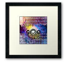 Vintage Disco Music Framed Print