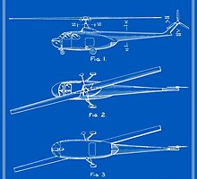 Helicopter Patent - Blueprint by FinlayMcNevin