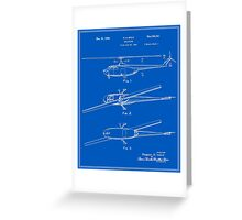 Helicopter Patent - Blueprint Greeting Card