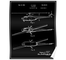 Helicopter Patent - Black Poster