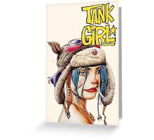 Tank Girl Greeting Card