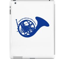 THE BLUE FRENCH HORN iPad Case/Skin