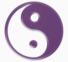 Purple Yin Yang Symbol Kids Clothes