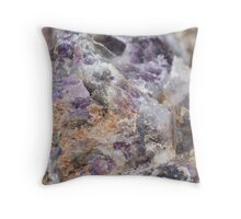 detail of natural stone Throw Pillow