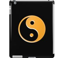 Shiny Yellow Yin Yang Symbol iPad Case/Skin