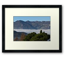 fog on the lake Framed Print