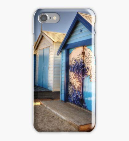 Brighton Beach Huts, Victoria iPhone Case/Skin