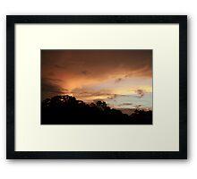 Rio Jatapu Sunset, Amazon Rain Forest, Brazil Framed Print