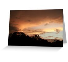 Rio Jatapu Sunset, Amazon Rain Forest, Brazil Greeting Card