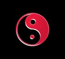 Shiny Red Yin Yang  by TigerLynx