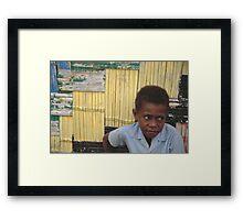 Ni-Vanuatu Boy Framed Print