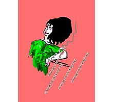 THE BLACK-HAIRED WOMAN Photographic Print