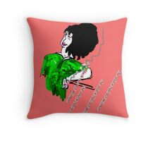 THE BLACK-HAIRED WOMAN Throw Pillow