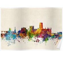 Durham England Skyline Cityscape Poster