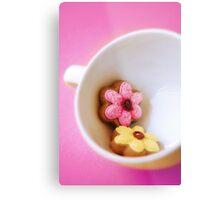 Flower Cookies Metal Print