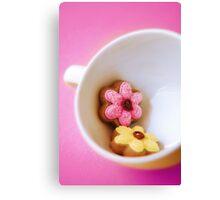 Flower Cookies Canvas Print