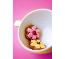 Flower Cookies Photographic Print