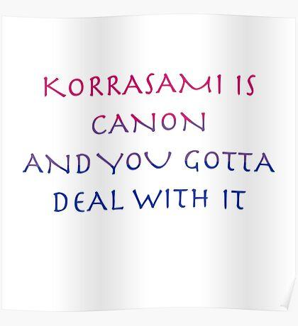 Korrasami Canon ~bisexual flag version Poster