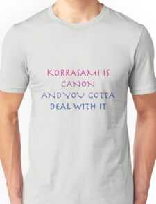 Korrasami Canon ~bisexual flag version Unisex T-Shirt