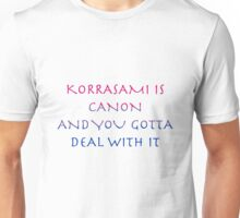 Korrasami Canon ~bisexual flag version Unisex T-Shirt