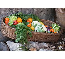 fruit and vegetables in the basket Photographic Print