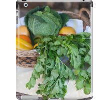 fruit and vegetables in the basket iPad Case/Skin
