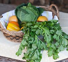 fruit and vegetables in the basket by spetenfia