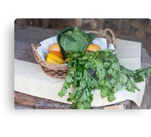 fruit and vegetables in the basket Metal Print