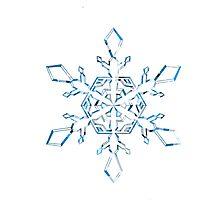 Light Blue Snowflake Photographic Print