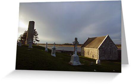 Winters evening at Clonamcnoise by John Quinn
