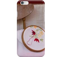 tambourine embroidery iPhone Case/Skin