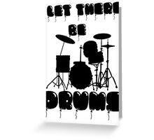 DRUMS T-SHIRT Greeting Card