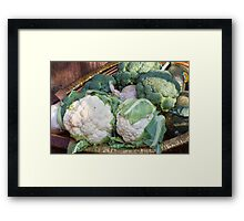 cauliflower in the basket Framed Print