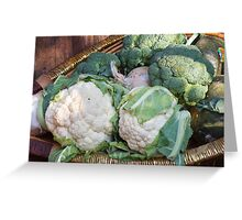 cauliflower in the basket Greeting Card