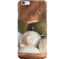 onions and pumpkins in the basket iPhone Case/Skin