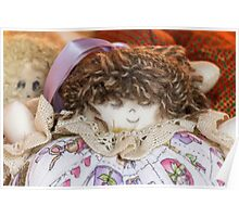 old doll fabric Poster