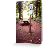 Picnic area for Disabled only? Greeting Card