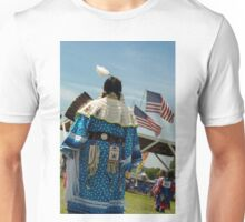 Native woman dancer with flags Unisex T-Shirt