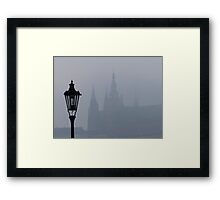 Lampost and Spires Framed Print