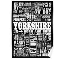 YORKSHIRE SAYINGS Poster