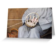 craftsman who builds a basket Greeting Card