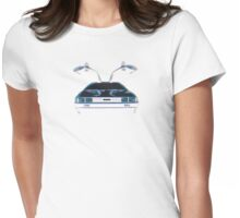 Delorean (CMYK) Womens Fitted T-Shirt