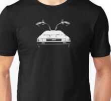 Delorean (White) Unisex T-Shirt