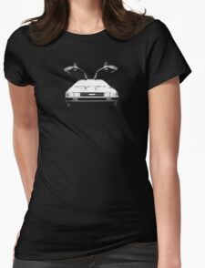 Delorean (White) Womens Fitted T-Shirt