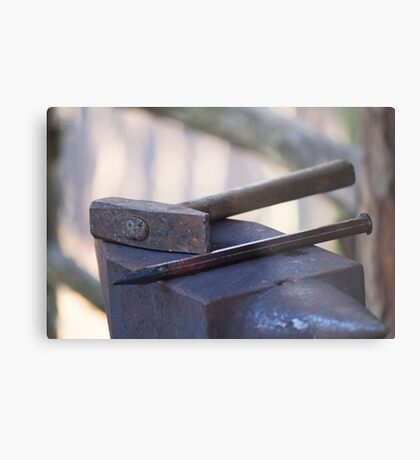 hammer and anvil Metal Print