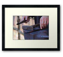hammer and anvil Framed Print